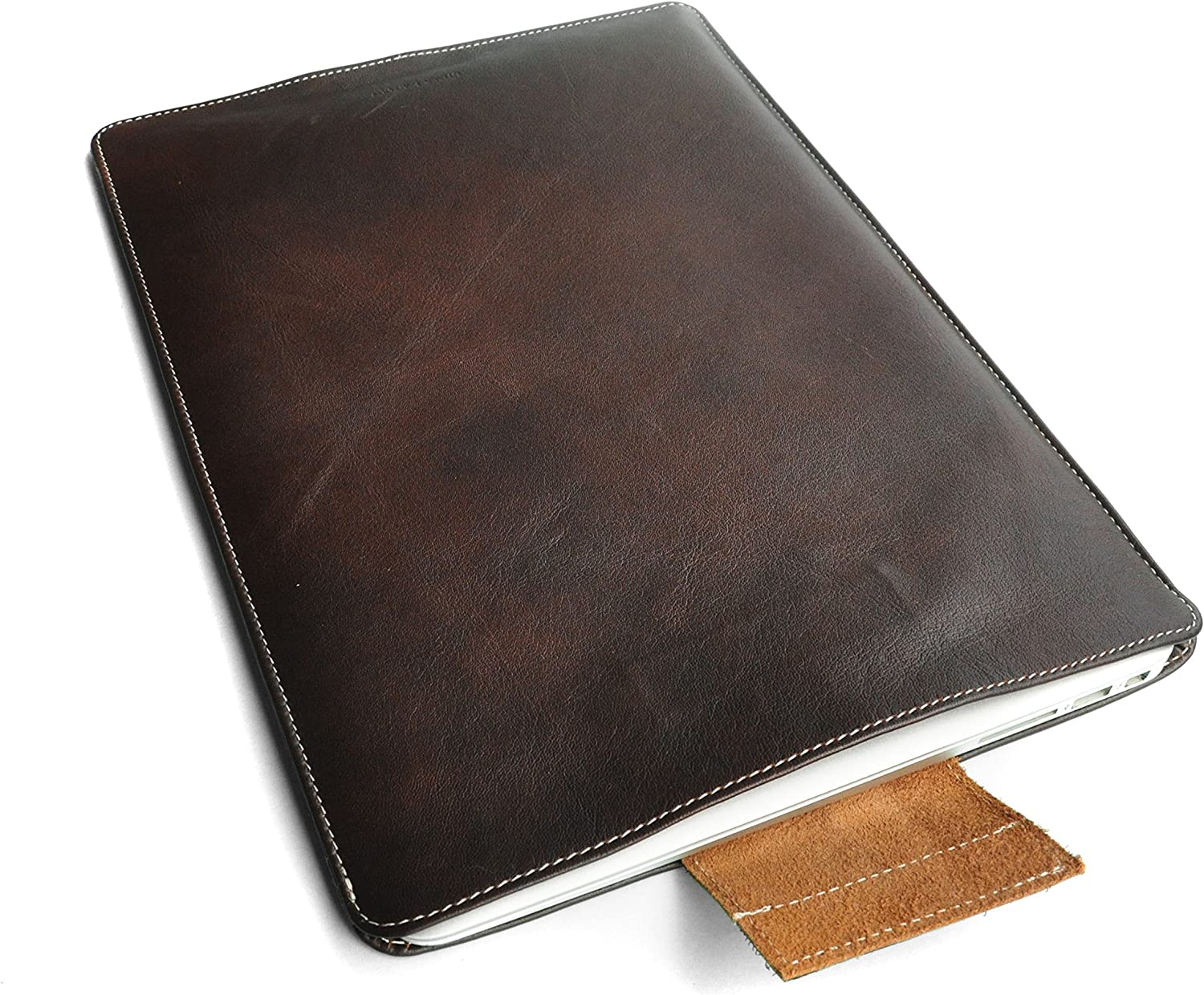 "Chalk Factory Leather Laptop Sleeve with Water Proof core and Inner Lining for Dell XPS (15"", Brown)"
