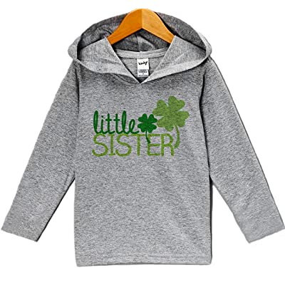 7 ate 9 Apparel Little Sister ST Patrick's Day Hoodie Pullover