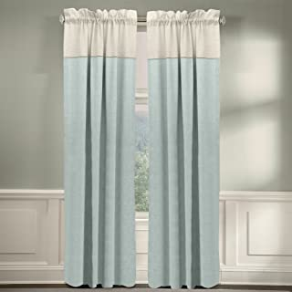 product image for Veratex The Monterey Window Collection Made in The U.S.A. 100% Linen Living Room Grommet Window Panel Curtain, Gray, 84""