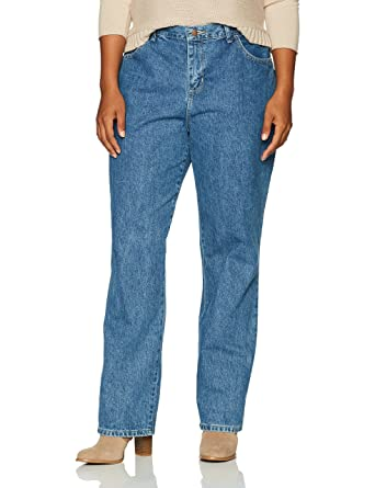 a8ba282ae3b LEE Women s Plus-Size Relaxed Fit All Cotton Straight Leg Jean at ...