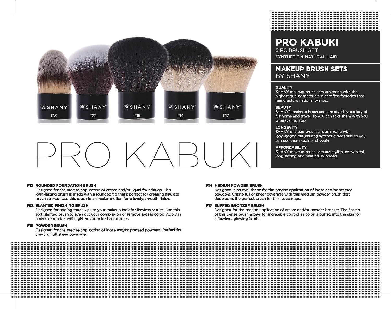 kabuki brush uses. amazon.com: shany pro 5 piece essential kabuki brush set synthetic and natural hair, x-large: shany: beauty uses