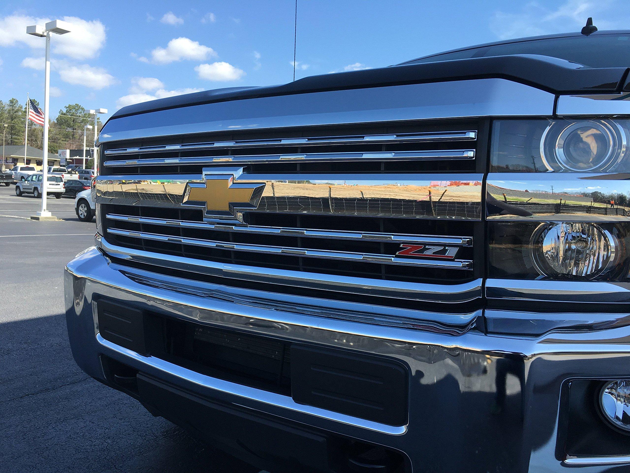 Chrome Grille Overlay Insert for 2015-2016 Chevy Silverado 2500, 3500, Z71