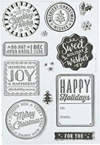 Hero Arts Holiday Badges Stamp