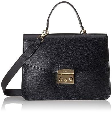 a2a52673497f Amazon.com: Furla Metropolis M Top Handle, Women's Bag, Black (Onyx ...