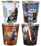 Star Wars Force Awakens Aluminum Multi-Use Garbage Can or Popcorn Bucket, Set of 4