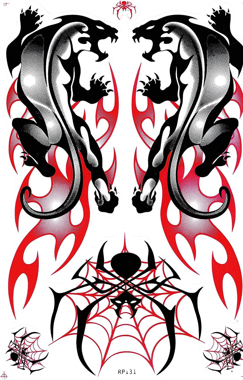 DD Flammen Panther Drache spinne Jaguar Sticker Aufkleber Folie 1 Blatt 270 mm x 180 mm wetterfest