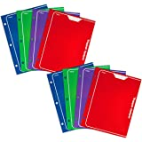 Mead Trapper Keeper 2-Pocket Portfolio, 12 x 9.38 x .12 Inches, Assorted, Pack of 8 (73043)