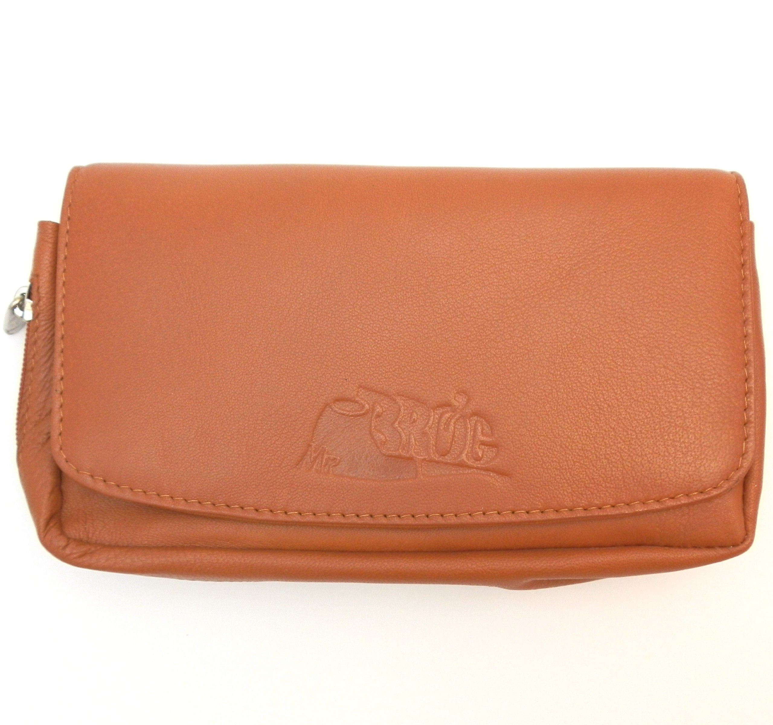 Sheep Napa Leather Tobacco Pipe Combo Pouch with Rubber Lining to Preserve Freshness