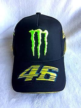 Gorra Monster Energy VR46 de moto GP - Logo en la parte delantera con la garra + 46 en la visera y el lateral: Amazon.es: Coche y moto