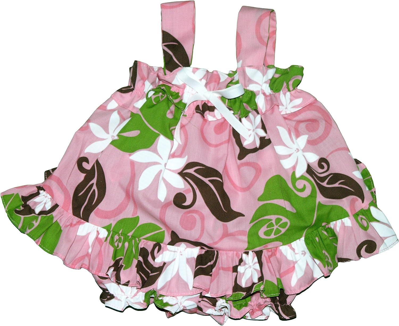 RJC Infant Girls Tahitian Flower Party Ruffle 2pc Set