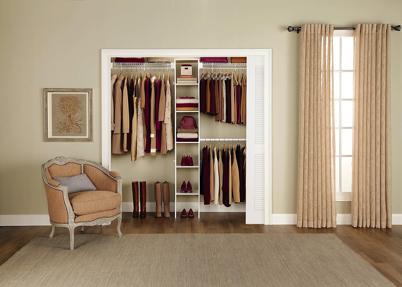 Amazon.com: Rubbermaid FastTrack FreeSlide Expandable Closet Organizer, 5  To 8 Feet (85710): Home U0026 Kitchen