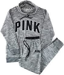 Victorias Secret Pink Cowl Neck Pullover and Jogger Set
