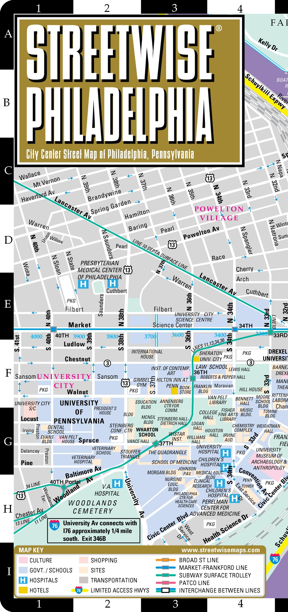 show me a map of philadelphia Streetwise Philadelphia Map Laminated City Center Street Map Of show me a map of philadelphia