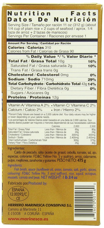 Amazon.com : Marinesca Paella, Seafood, 475 Gram : Rice Paella : Grocery & Gourmet Food