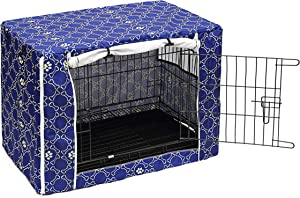 Dog Crate Cover for Wire Crates, Heavy Nylon Durable Waterproof Windproof Pet Kennel Cover Indoor Outdoor Protection - Cover only