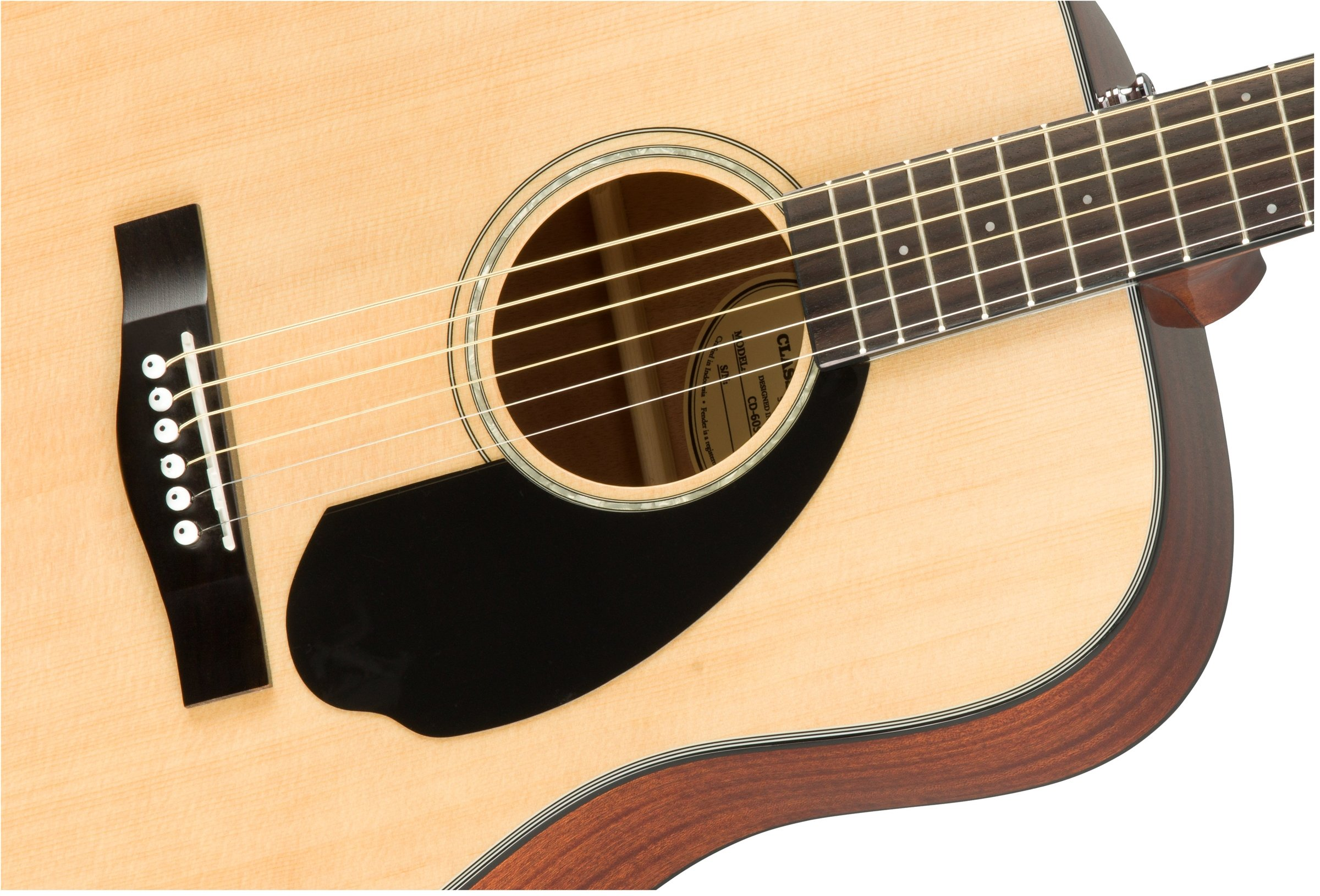 Fender CD-60S Beginner Dreadnought Pack, Natural with Gig Bag, Strap, Picks, Strings, and Fender Play by Fender