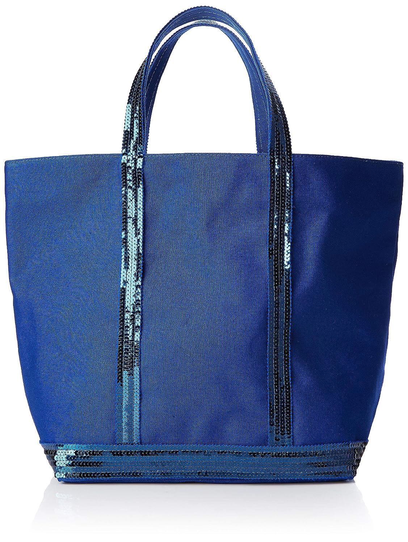 bluee (Cobalt) VANESSA BRUNO Women's Cabas Medium Coton Et Paillettes Tote