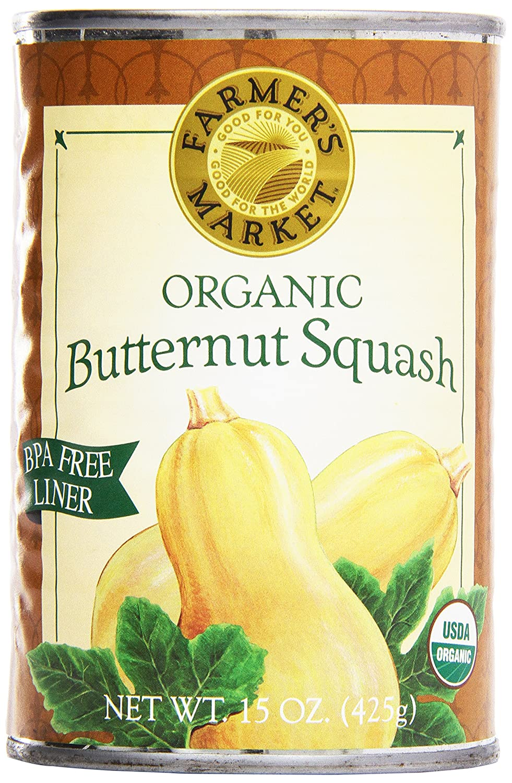 Farmer's Market Foods, Organic Canned Butternut Squash Puree, 15 oz