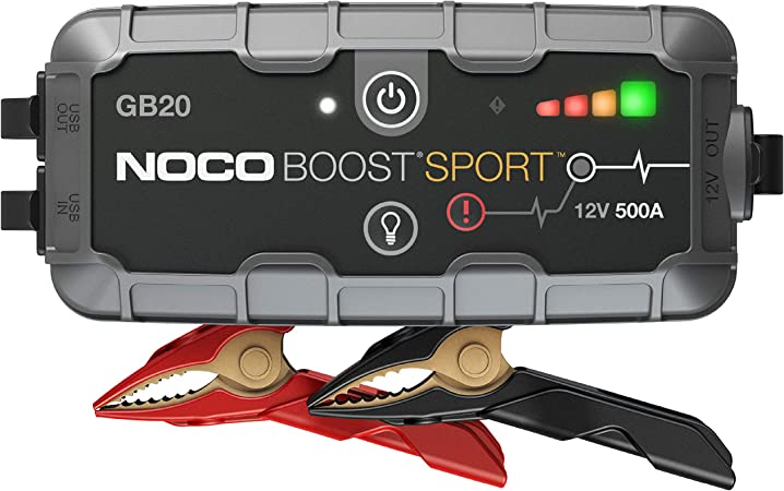 Noco Boost Hd Gb20 500 Amp 12 Volt Ultrasafe Portable Lithium Car Battery Starter Pack Jump Starter Power Bank And Booster Cables For Up To 4 Litre Petrol Engines Auto