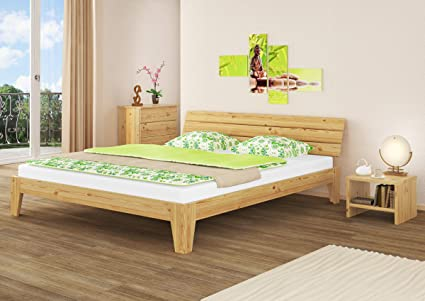 Camera Da Letto Legno Naturale : Solido largo letto in pino massello eco anche per ragazzi