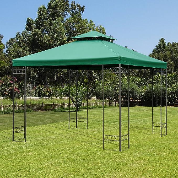 HOMCOM Outsunny Techo de Reemplazo 3X3 Metros para Carpa Pabellon Toldo Verde Eventos y Bodas: Amazon.es: Jardín