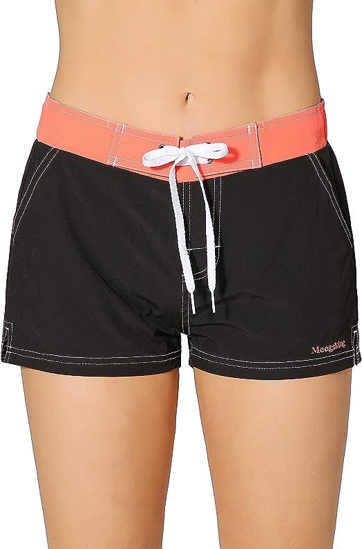 Tie Dye Summer Beach Shorts Quick Dry Tankini Swim Briefs Bottom Boardshorts Drawstring Elastic Waist for Women Girls