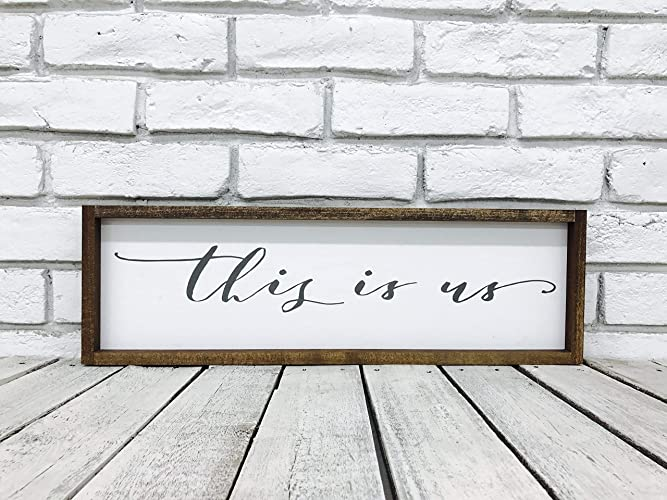 Amazoncom This Is Us Wood Sign Family Wall Decor Farmhouse Decor