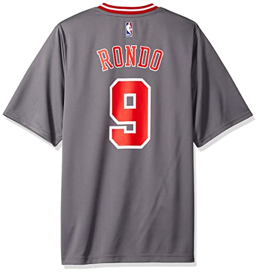 los angeles aae02 afd41 NBA Chicago Bulls Rajon Rondo #9 Men's Pride Replica Jersey, Large, Gray