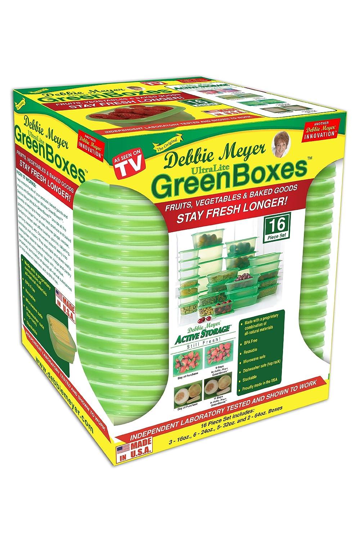 Amazon.com   Debbie Meyer Ultra Lite Green Boxes Set, 16 Piece   Food Savers