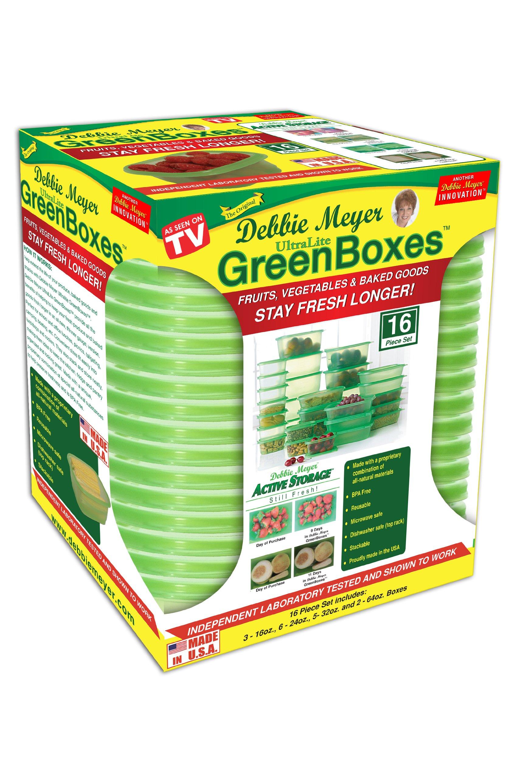 Debbie Meyer Ultra Lite Green Boxes Set, 16-Piece
