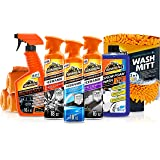 Armor All Ultimate Car Detailing Kit (9 Items) – Ceramic Glass Cleaner, Car Wash, Wheel and Tire Cleaner, UV Protectant, 4 Mi