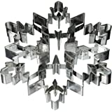 """R&M International 5879 Snowflake 7.5"""" Giant Cookie Cutter with Interior Cut-Outs"""