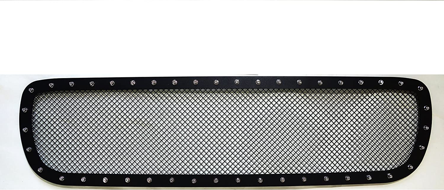 MPH Production Black Powder Coated Grille Bolt Over for Select 99 00 01 02 GMC Sierra 1500 2500 3500 HD Yukon Models