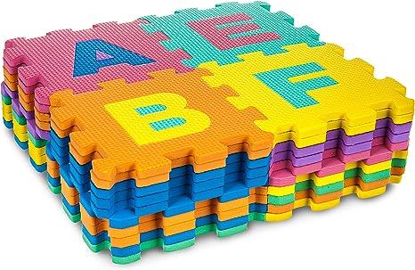 white 40 Menu Life EVA Jigsaw Play Mats Kids Soft Puzzle Play Mat Soft Foam Play Mat Pop-Out Mats