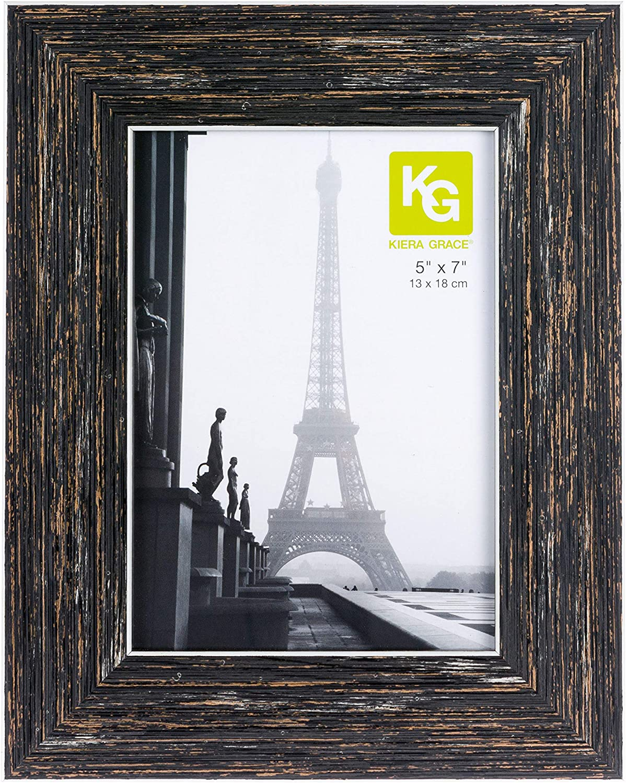 kieragrace Farmhouse luxury-frames, 5 by 7-Inch, Blackended Wood