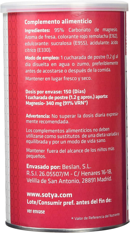 SOTYA - Carbonato de Magnesio, sabor fresa, bote 180 gr: Amazon.es ...