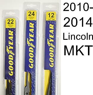 "product image for Lincoln MKT (2010-2014) Wiper Blade Kit - Set Includes 24"" (Driver Side), 22"" (Passenger Side), 12E"" (Rear Blade) (3 Blades Total)"