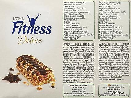 Nestlé Fitness Delice - Barritas de Cereales con chocolate negro - 6 cajas de 6 barritas de cereales (36 barritas): Amazon.es: Alimentación y bebidas