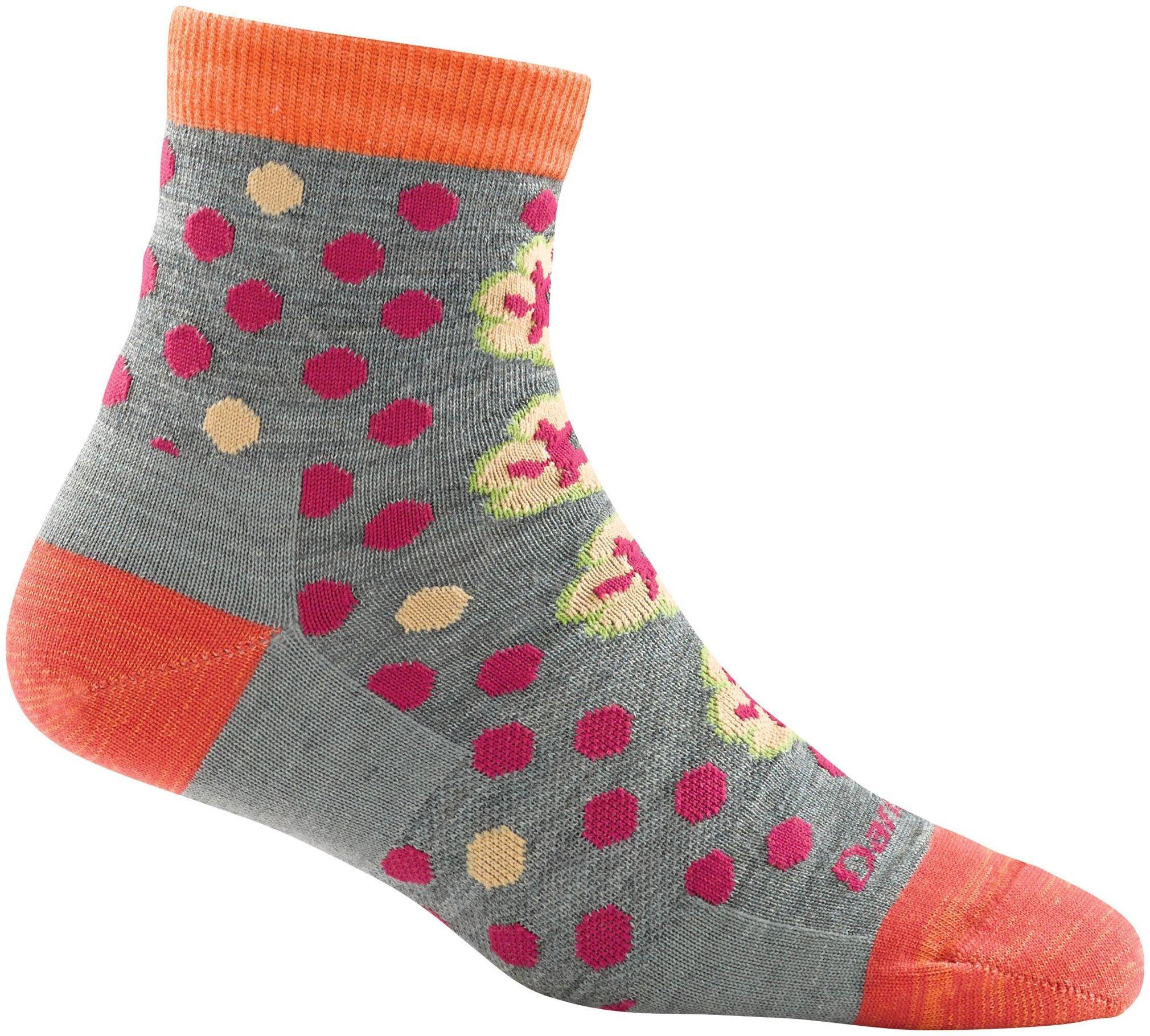 Darn Tough Women's Merino Wool Flower Power Shorty Light Socks Medium Sea Foam DISCONTINUED