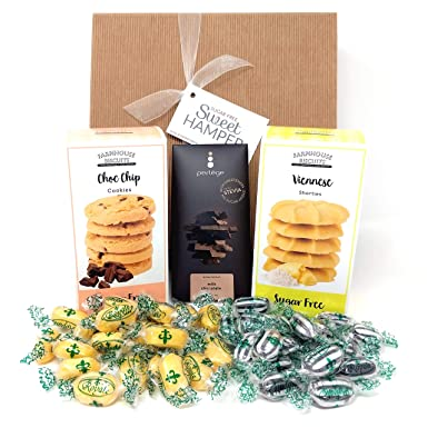 Sugar Free Hamper Box Sweets Biscuits Chocolate Suitable For Diabetics Perfect Gift For Birthday Christmas Valentine S Father S Day Mother S