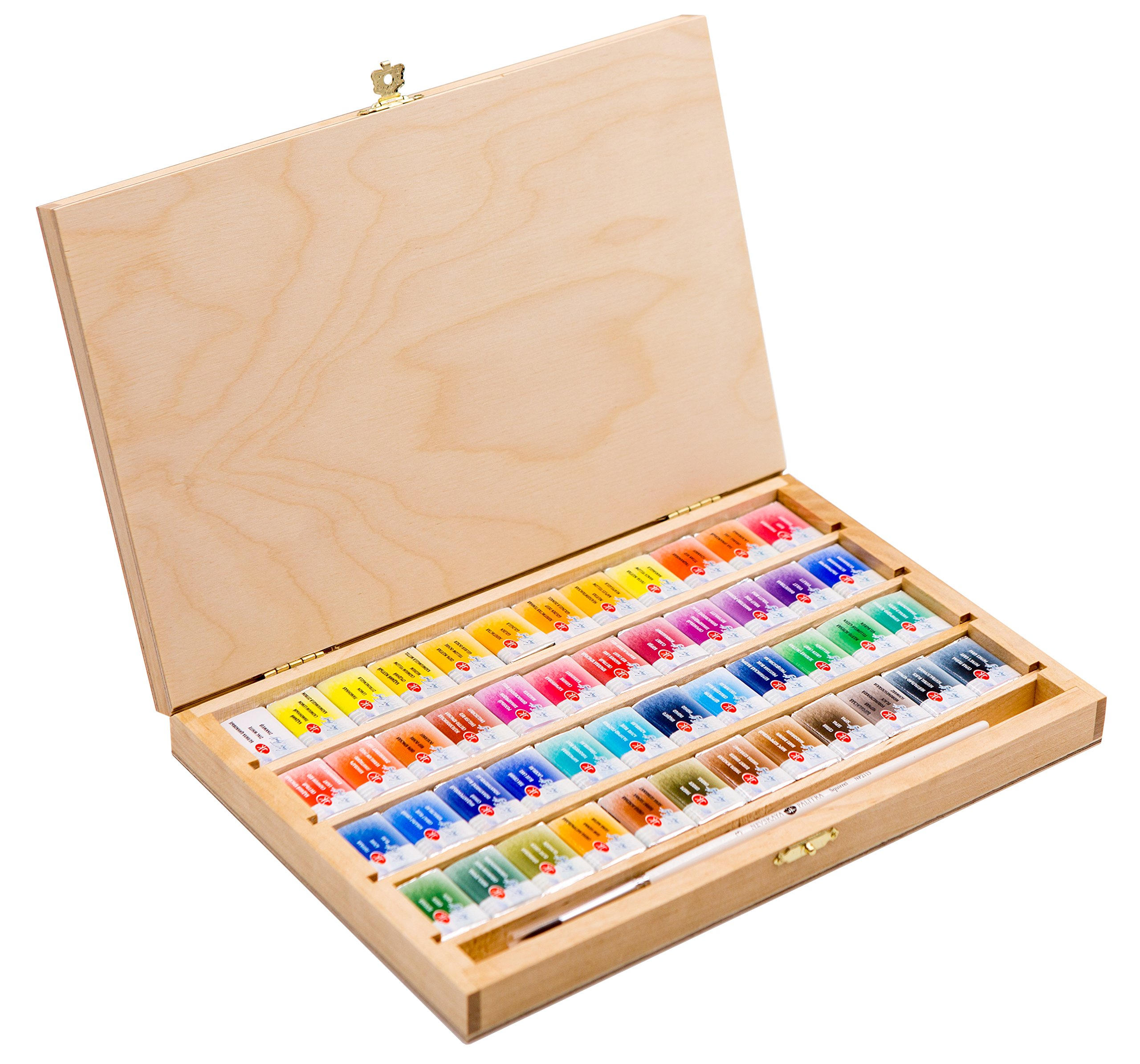 48 Saint Petersburg Watercolor Paint Set Birch Box with a Squirrel Brush