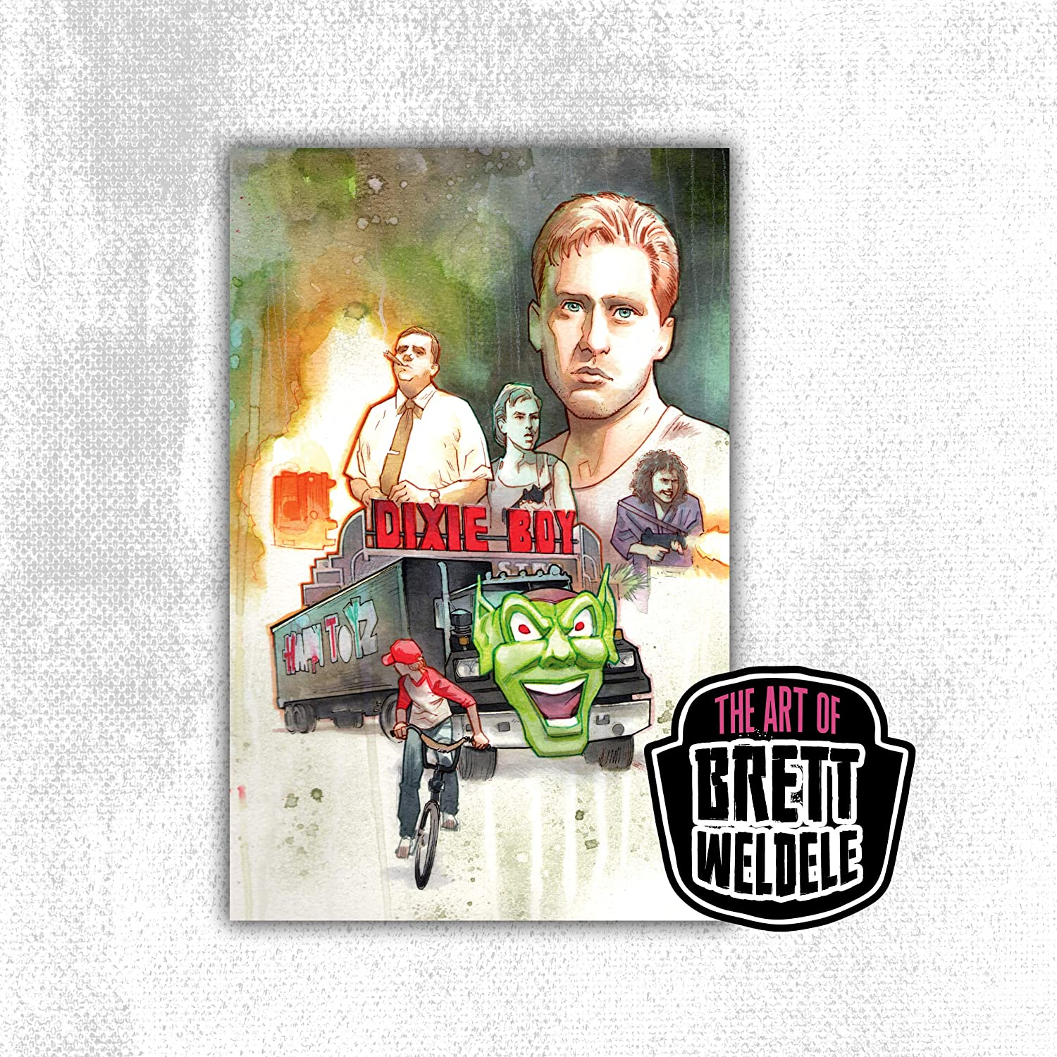 MAXIMUM OVERDRIVE - The Stephen King Collection - premium watercolor art print - movie poster - 11x17 - signed