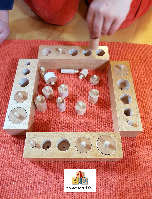 Incastri Solidi -Family Set- Set di 4 Mini Cilindri