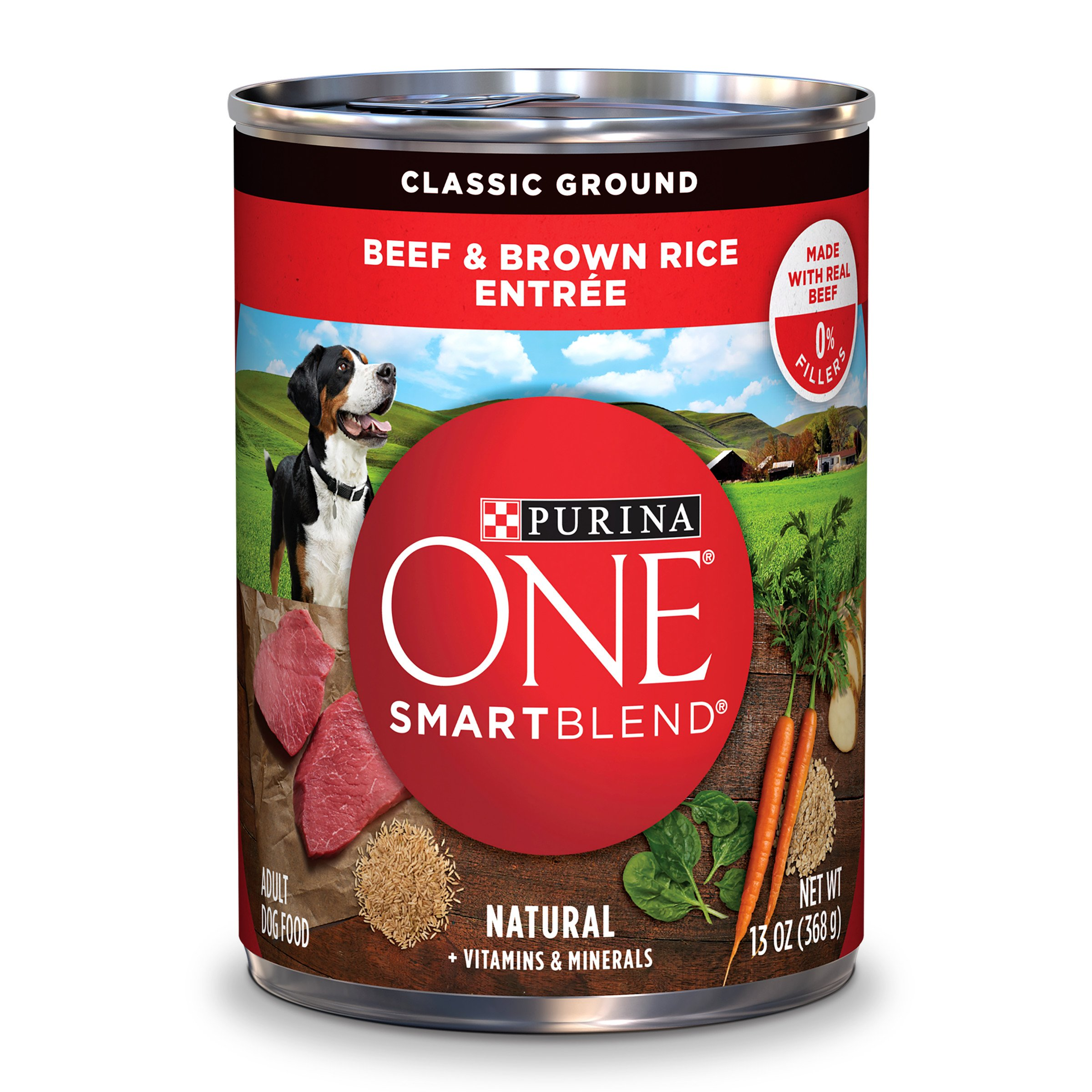 Purina ONE One Wholesome Beef & Brown Rice Entree - 12x13 oz