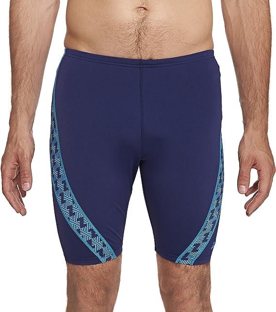 Zoggs Mens Ballina Nix Jammer Swimming Trunks Blue//Black with a Drawstring Waist