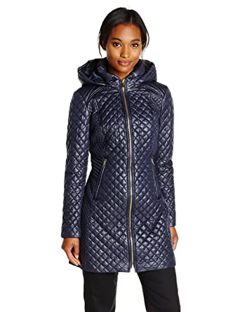 Via Spiga Women's Lightweight Quilted Jacket with Hood at Amazon ...