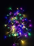 (ELEFANG) 多彩カラー♪【 イルミネーション LED ライト 電飾 】 4 M 七色新版 赤色 黄色 藤色 緑色 青色/電池 式/クリスマス ツリー 飾り LITE/保証書付 (七色新版4m40球)