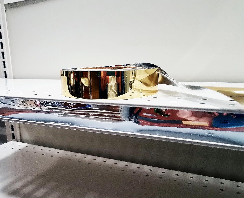 Decorative Gondola Shelving Vinyl Insert for Ticket Channel 130 FT x 1.25 in Black