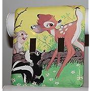 Disney Bambi Thumper Flower Deer Double Switch Plate Light Cover Wallplate