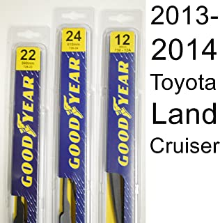 """product image for Toyota Land Cruiser (2013-2014) Wiper Blade Kit - Set Includes 24"""" (Driver Side), 22"""" (Passenger Side), 12A"""" (Rear Blade) (3 Blades Total)"""